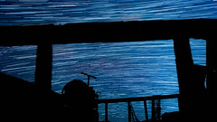 Startrail (Kimberley Hoyles) Tags: stars star night blue boat sea water light beautiful beaty beach coloure cool composition colourful