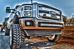 12 (Strangely Different) Tags: diesel chevy 1500 powerstroke ford silverado slammed jacked force american 22x14 1958 delray