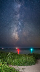Clear On The Other Side (Jason Dinelli) Tags: stars milkyway capecod composite longexposure astro space beach water sand ocean panorama galaxy nobska waves