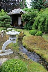 Japanese garden (jpotto) Tags: uk derbyshire duffield wharfedale nationalgardenscheme garden gardens japanese ornaments sculpture teahouse