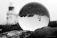 118/366 St. Catherine's Lighthouse (andrew.varney) Tags: isleofwight iow monochrome blackandwhite blackwhite globe glass crystalball outdoors lighthouse 365 366 england uk coast nikon d5100