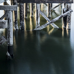 pier pilings @ White Rock, BC (gks18) Tags: longexposure canon ndfilter pier pilings pacificocean whiterock bc britishcolumbia