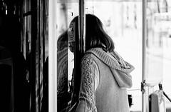 Untitled (Peste Razor) Tags: girl talking bus driver contrast blackandwhite nikon filmsimulation black white shadows light ragazza parla autista contrasto bianco e nero ombre luci torino italia