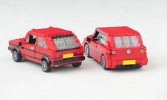 Volkswagen Golfs (Mad physicist) Tags: lego volkswagen golf scale model 122 car