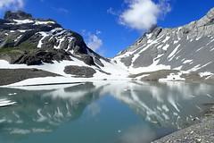 Etang de la Forcla (8pl) Tags: valais lac etang névés neige reflets soleil nuages rochers suisse