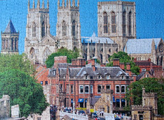 York Minster (pefkosmad) Tags: jigsaw puzzle hobby pastime leisure incomplete onepiecemissing 1000pieces yorkminster church photograph photo falcon yorkshire