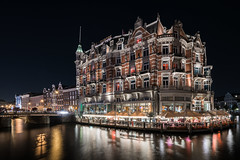 A night of luxury (McQuaide Photography) Tags: amsterdam noordholland northholland netherlands nederland holland dutch europe sony a7rii ilce7rm2 alpha mirrorless 1635mm sonyzeiss zeiss variotessar fullframe mcquaidephotography lightroom adobe photoshop tripod manfrotto light licht night nacht nightphotography water reflection stad city urban waterside lowlight architecture outdoor outside waterfront capitalcity capital illuminated amstel river famous landmark hotel luxury luxuryhotel 5star fivestar hoteldeleurope rijksmonument nationalmonument wideangle wideanglelens 16mm groothoek building longexposure