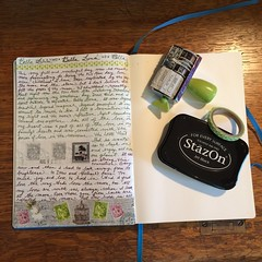 August 19, in my journal. (Kathryn Zbrzezny) Tags: write writer journal journalwriting journaling visualjournal visualdiary handwriting handwritten