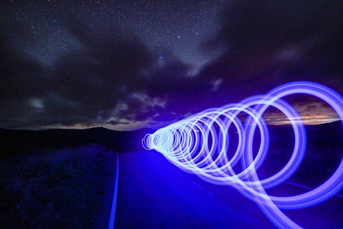 Wormhole Had a little light painting fun when the clouds rolled in. Photography is all about adapting to changing conditions. ☺  #aurora #northernlights #lightpainting #spiral #spin #blue #creative #beautiful #cairnomount #aberdeenshire #beautifulscotland