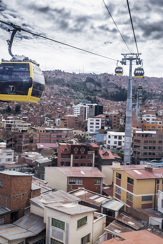 Up in La Paz, Bolivia