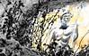 Bantu warrior on the lookout - Guerrier Bantou aux aguets, Azemmour, Morocco - Maroc. (Olivier Simard Photographie) Tags: africa streetart wall cutout painting graffiti northafrica wallart peinture morocco berber maroc medina warrior mur fresco artmural afrique fresque berbère médina kouka guerrier azemmour artdesrues couleurssélectives rempartsfestival festivalremparts