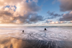 The Bathers (Nick Twyford) Tags: longexposure newzealand seascape clouds sunrise wideangle nz northisland westcoast wanganui taranaki earlymorninglight leefilters waverleybeach nikond800 lee09nd lee06gndhard nikkor160350mmf40 solmetageotaggerpro2