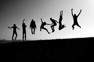 jumping shadows !!