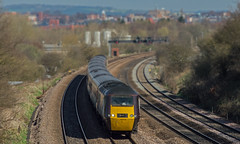 Cross Country 43378 at Hasland (thestig2) Tags: city uk modern speed train high cross derbyshire rail railway loco trains class locomotive xc railways chesterfield midland 43 inter 125 hst mainline 43378 crountry hasland
