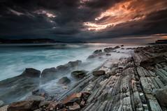 Elements (BIZKAIA) (Jonatan Alonso) Tags: longexposure sunset seascape beach rocks bizkaia