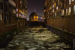 Hamburg - winterlicher Blick durch die Speicherstadt