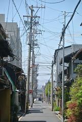 nagoya13330 (tanayan) Tags: road street urban japan town alley nikon cityscape wires nagoya   aichi j1 nakamura