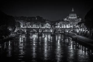 St. Peter's Basilica, Tiber, Rome, Italy
