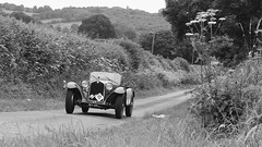 going for a spin (likrwy) Tags: white black classic monochrome car rural mono 1930s country hampshire lane alfa romeo trial 1000 rac mile motoring