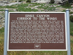 Sinks Canyon Historic Marker (jimmywayne) Tags: statepark river marker wyoming sinks lander fremontcounty sinkscanyon popoagieriver