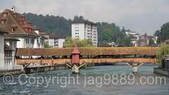 REU525 Spreuerbrcke (Spreuerl Bridge) over the Reuss River, Lucerne, Switzerland (jag9889) Tags: 2016 20160725 alpine bridge bridges brcke ch cantonlucerne centralswitzerland coveredbridge crossing europe footbridge helvetia historic holzbrcke infrastructure innerschweiz kantonluzern lu landmark lozrn lucerne luzern outdoor pedestrianbridge pont ponte puente reuss river schweiz spreuer stadtluzern suisse suiza suizra svizzera swiss switzerland woodenbridge zentralschweiz jag9889