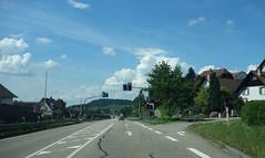 driving under cloudy sky (7) (BZK2011) Tags: landstrase countryroad sony rx100 himmel sky wolken clouds kappelrodeck dorf village blackforest schwarzwald ampel