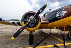 Bucket of Bolts (Sharky.pics) Tags: c45expeditor caf aircraft 1946 historic airplane worldwartwo heavybombers 2016 airshow classic janesville commemorativeairforce bucketofbolts 1946beechcraftc45expeditor beechcraft wisconsin july worldwarii unitedstates us