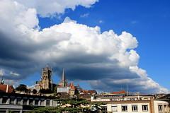 flat grey (overthemoon) Tags: sky weather clouds landscape schweiz switzerland suisse cathedral cité lausanne svizzera vaud romandie utata:project=weather