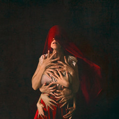 holding on (brookeshaden) Tags: brookeshaden surrealphotography fineartphotography conceptualphotography selfportraiture darkart darkphotography