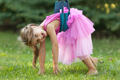 My niece on the swing (michaelraleigh) Tags: portrait green field canon serene secluded infocus 200mm f28l