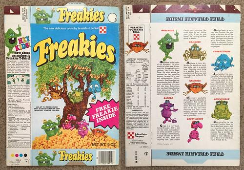 1974 Ralston Freakies FREE Freakie Cereal Box