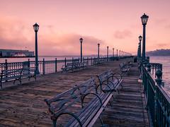 Light on the boardwalk (Jim Nix / Nomadic Pursuits) Tags: aurorahdrpro california jimnix leica lightroom macphun nomadicpursuits olympus olympusomdem1 panasonic pier7 sfo sanfrancisco summilux boardwalk f17 lamppost mirrorless primelens travel