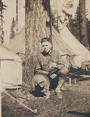 Spruce Soldier (RV Bob) Tags: soldier vancouver washington 1918 sprucesoldier ww1 wwi firstworldwar worldwari worldwarone worldwar1 tent tree