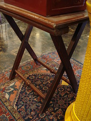 """FOLDING CAMPAIGN TABLE, MID-19TH CENTURY. • <a style=""""font-size:0.8em;"""" href=""""http://www.flickr.com/photos/51721355@N02/28532540832/"""" target=""""_blank"""">View on Flickr</a>"""