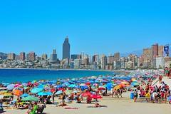 Benidorm (J.MIGUEL FLORES) Tags: benidorm playa poniente baistas bali mar