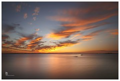 Sunset over Moreton Bay (pbaddz) Tags: water longexposure le wellingtonpoint clouds sunset australia queensland