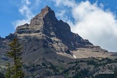 Matterhorn of the US (kevin-palmer) Tags: absarokamountains wyoming beartoothhighway highway212 pilotpeak nikond750 nikon180mmf28 blue sky clouds foxcreekcampground