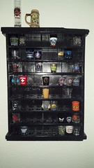 My Newest Shot Glass Display Case (cjacobs53) Tags: jacobs jacobsusa wood pallet recovery green heat treat cut woodpallet diy doityourself black shot glass shotglass display case displaycase 116picturesin2016 scavenger hunt annual yearly knick knack trinket