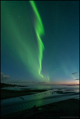 Norrsken (Jonas Thomn) Tags: auroraborealis aurora norrsken revontulet sea beach hav havet strand natt night stars stjrnor himmel sky storsand jakobstad jeppis pietarsaari