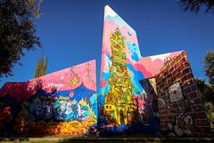 graffiti - behind the red wall - jardin rouge, marrakesh (urbanpresents.net) Tags: art graffiti jace jardinrouge kersavond marrakech marrakesh morocco publicart street streetart tatscru urban urbanart urbanpresentsnet