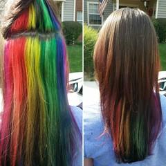 #ombee #fallcolor #daytonhair (pamelalayne1982) Tags: ombee daytonhair fallcolor cloudedhair peekaboo bluehair rainbowhair