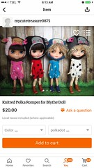 Hi all blythe friends.. i just open my new store at etsy .. welcome to visit my store.. 😍😘😘thank u ...