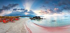Elafonissi Pink Laguna (Evgeni Dinev) Tags: aegeansea ciclades cretansea crete elafonissi greece hellas libyansea mediterraneaen beach island panorama sea seascape summer sunrise