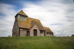 St Thomas A Becket (Ashley Hemsley) Tags: st thomas  becket fairfield romney marsh kent east sussex uk england united kingdom secluded alone historic color blue white cloud cloudy cloudscape skyscape explore landscape long exposure shutter speed creative artist art unique shot view motion movement canon camera 5d dslr photography capture moment green grass flickr
