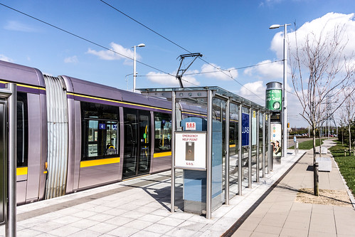 LUAS TRAM STOP IN CITYWEST [APRIL 2015] REF-103232
