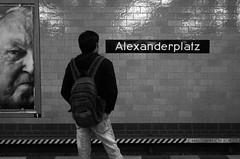 Les générations — Berlin, 26 avril 2015 (Stéphane Bily) Tags: blackandwhite bw man berlin face germany deutschland noiretblanc metro nb ubahn alexanderplatz allemagne homme visage stéphanebily