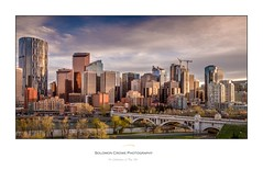 City of Calgary. Beautiful city view from the north river bank. (Solomon Crowe) Tags: city bridge sunset calgary skyline canon river landscape spring skyscrapers alberta 16mm hdr lightroom lightroomcc