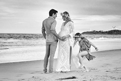 Maternity Kate -8 (Derek Hamlin Photography) Tags: wedding sea blackandwhite baby lighthouse beach water floral monochrome seaside surf waves child play outdoor pregnant maternity longbeach shore bouquet maori gown withchild lakesbeach hedband maoriboy maoriboypictures