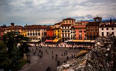 verona piazza bra dall'arena (cristian navatta) Tags: street city people italy canon eos italian italia bra arena verona piazza 70d
