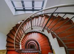 very old red (P I C K A D E) Tags: deu deutschland magdeburg sachsenanhalt treppen treppenhaus architekt architektur stairway geo:location=sternstrase3439104magdeburgdeutschland exif:lens=1020mm geostate geo:country=deutschland geocity camera:model=canoneos550d geo:lat=52120176666667 geo:lon=11627956666667 exif:aperture=ƒ40 exif:model=canoneos550d exif:focallength=10mm exif:isospeed=3200